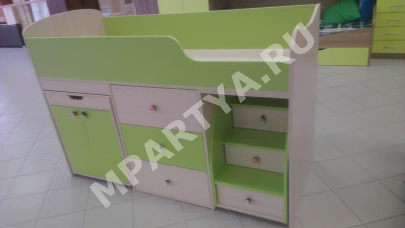 Детская мебель Малыш дуб/зелёный